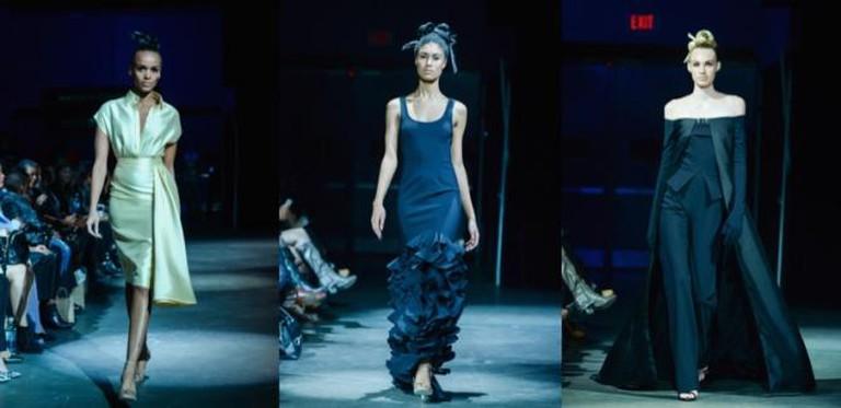 Models wearing Greta Constantine pieces walk the runway | © George Pimentel