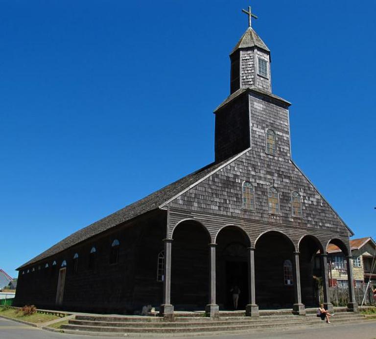 Santa María, Chiloé. Elemaki/Wikimedia Commons