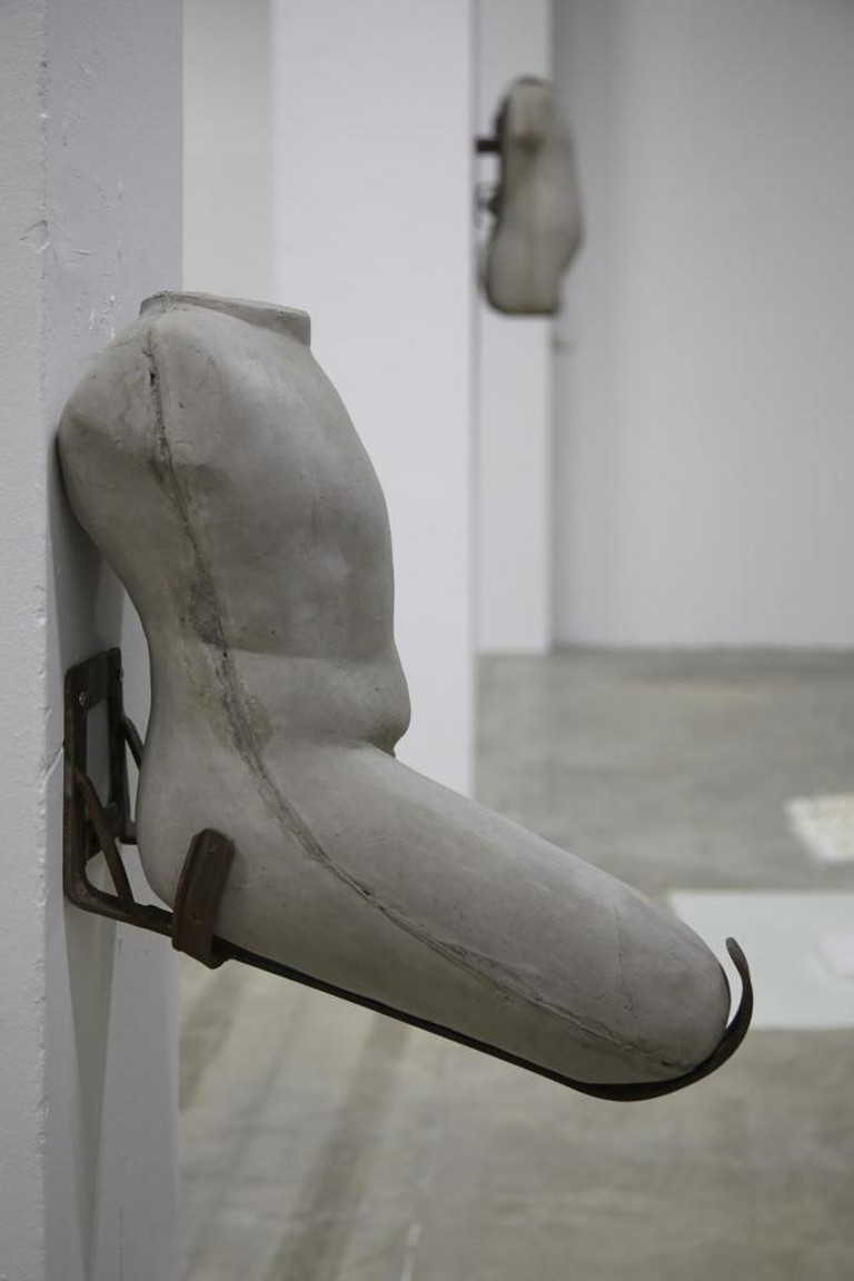 Yu Ji, Flesh in Stone 2, 2013. Cement, Iron. | Image courtesy of the artist.