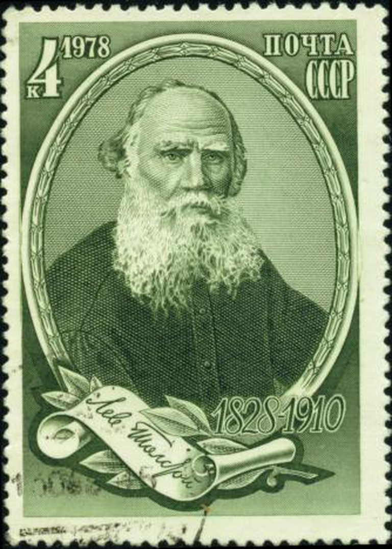 Leo Tolstoy on a Soviet stamp, 1978