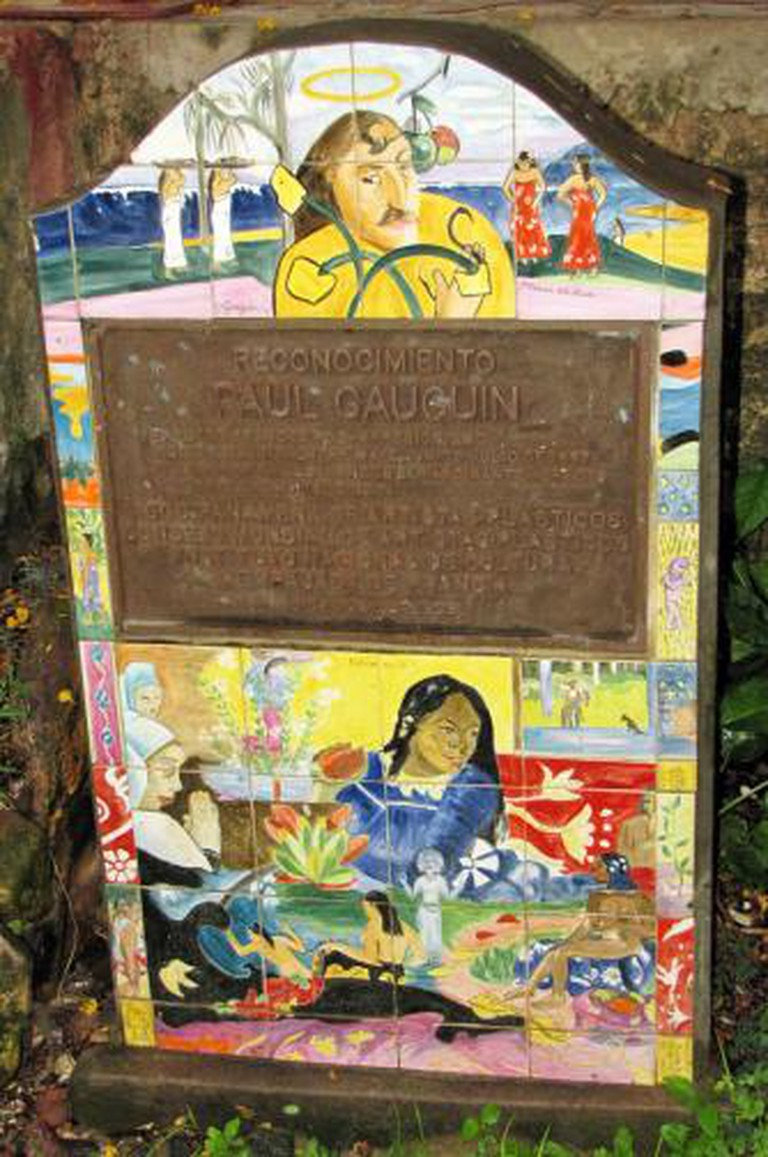 Paul Gauguin's memorial in Panama