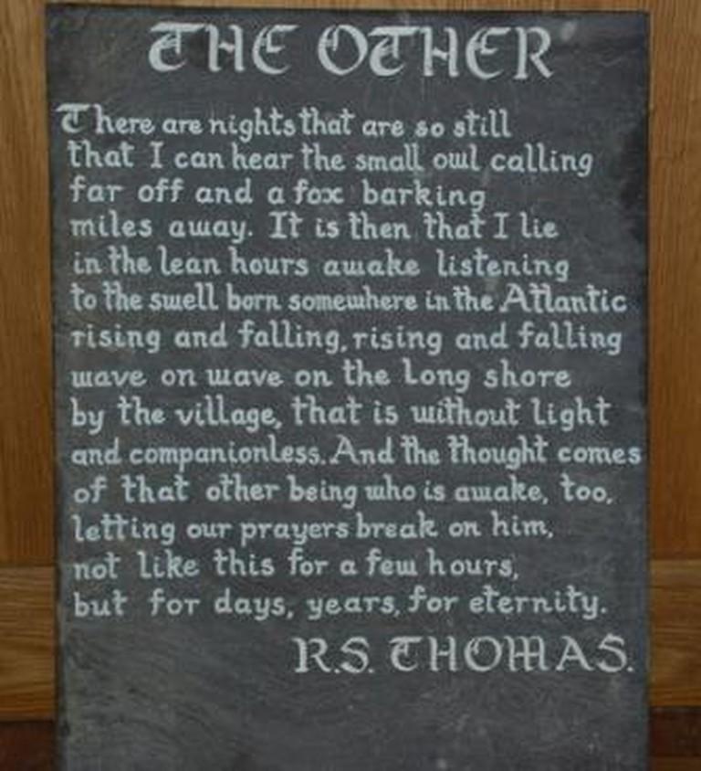 RS Thomas poem