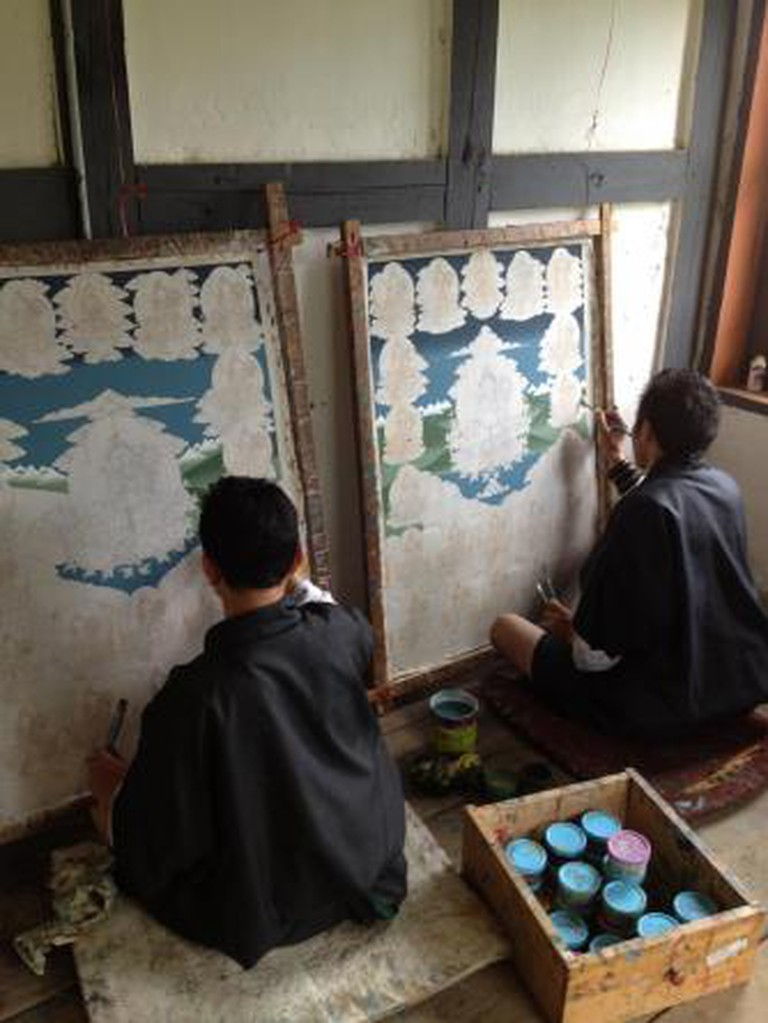 bhutanm art scool painting