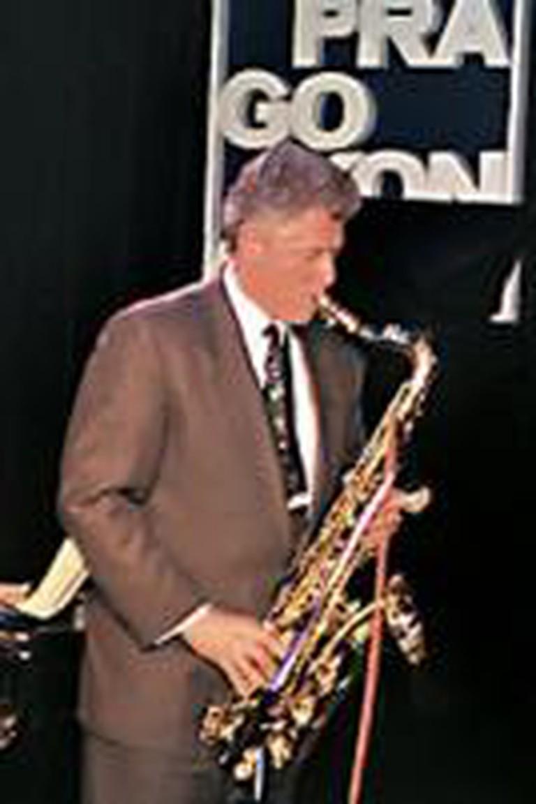 Bill Clinton Playing Saxophone
