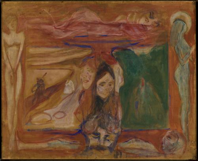 Edvard Munch, Symbolsk studie/Symbolic Study, 1893/94, 56 x 69 cm, Tempera on unprimed cardboard.