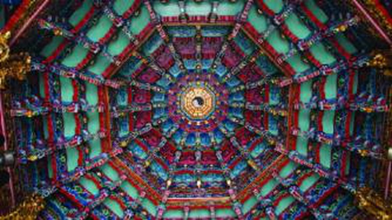 Hsinchu City God Temple Ceiling