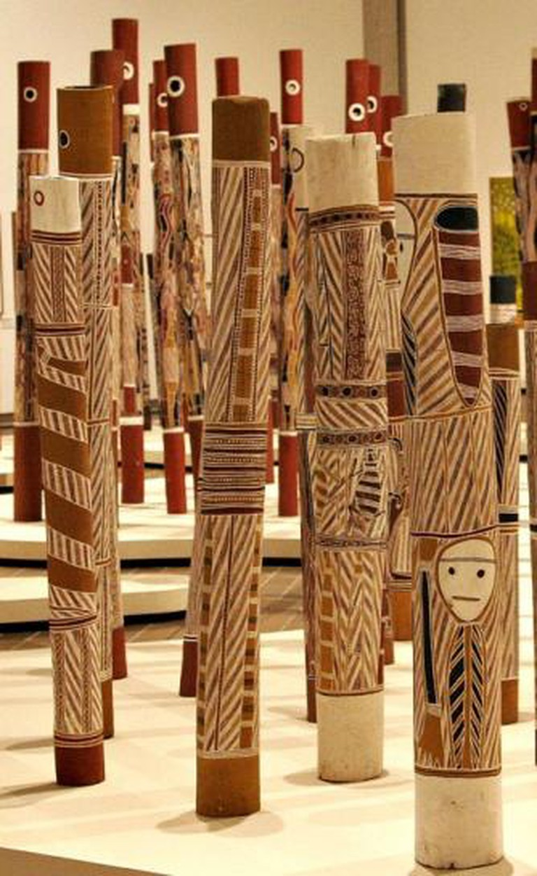 Aboriginal Log Tombs, National Gallery Canberra