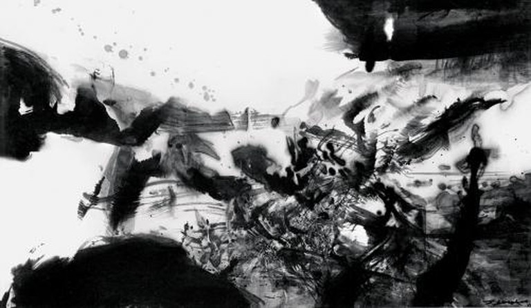Zao Wou-Ki, Untitled, 1972, India ink (69 x 119cm), Private Collection.