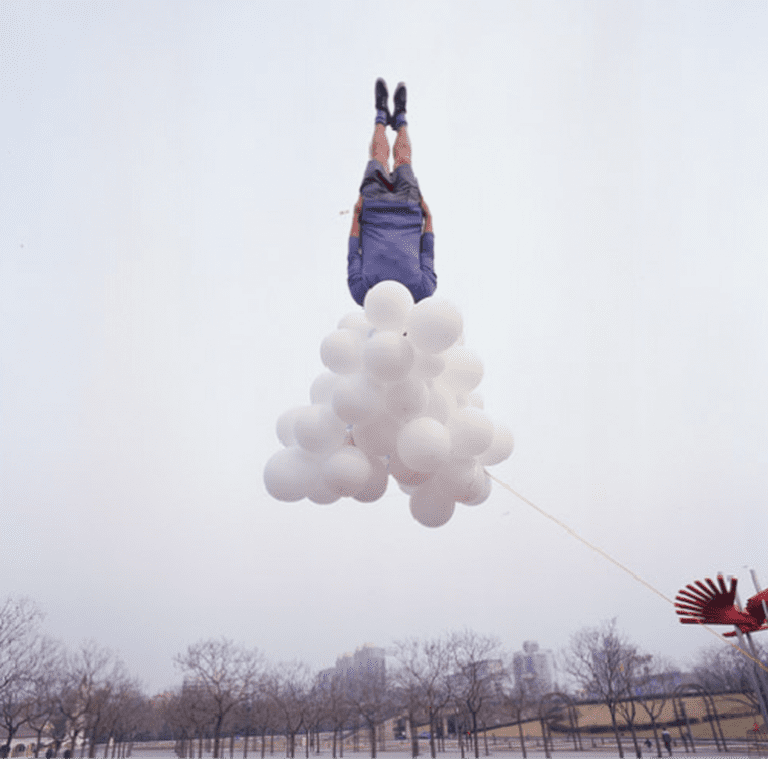 104-01, Li Wei Falls to 2009 (179 x 179cm), Edition: 8