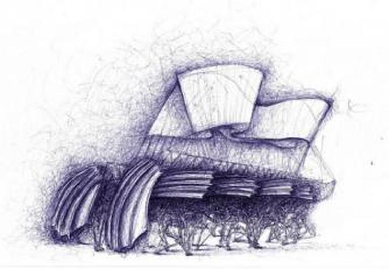 Theo Jansen, 'Sketch for Strandbeest'