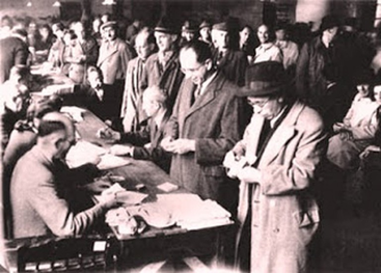 Jewish refugees in Shanghai, after their escape from Lithuania