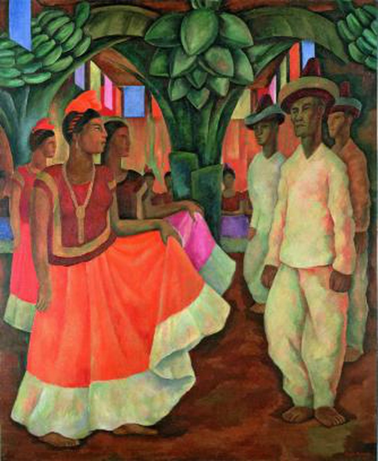 Diego Rivera Dance in Tehuantepec (Baile in Tehuantepec), 1928, Oil on canvas, 200.7 x 163.8 cm Collection of Clarissa and Edgar Bronfman Jr. Photo Collection of Clarissa and Edgar Brontman Jr.