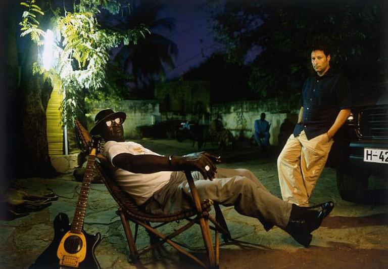Ali Farka Touré in Bamako with Nick Gold