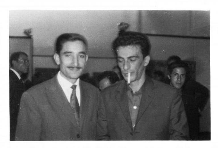 Kaddour M'Hamsadji and Kateb Yacine, 1962