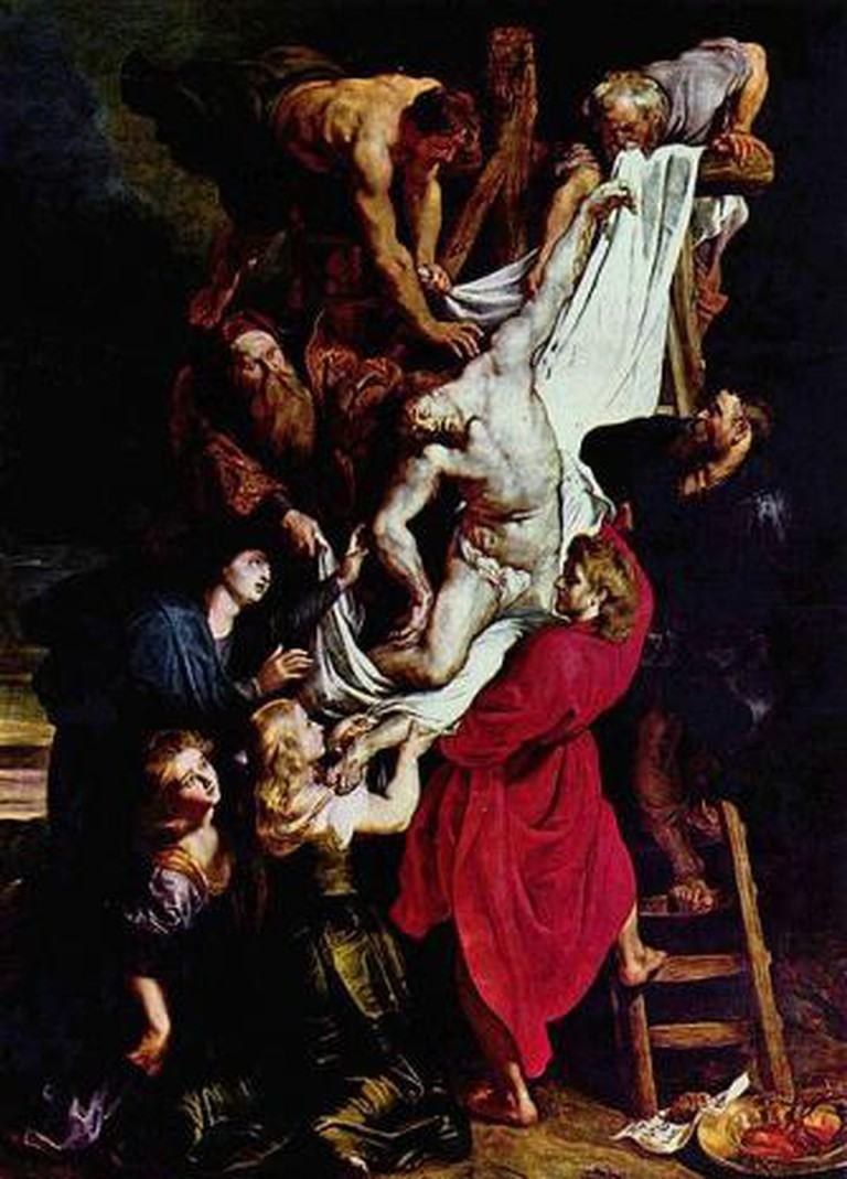 Peter Paul Rubens (1612-14), Descent from the Cross (Oil on panel, 421 x 311 cm), Vrouwekathedraal, Antwerp.