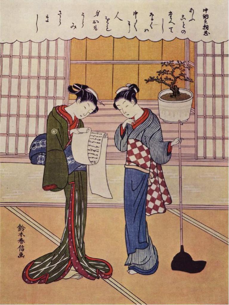 Suzuki Harunobu, Two Girls, c. 1750