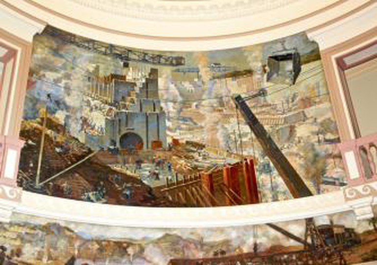 The Panama Canal murals