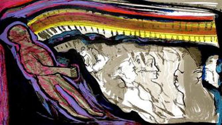 La TV Que Nos Mira painting by Louis Felipe Noé/