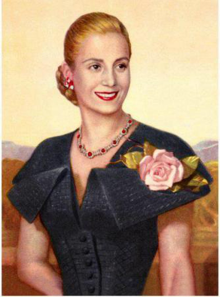 Official state portrait of Eva Peron, Republic of Argentina
