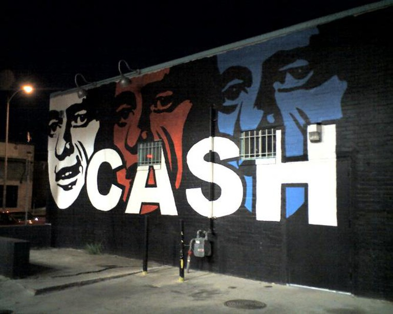 Johnny Cash mural in Austin, Texas