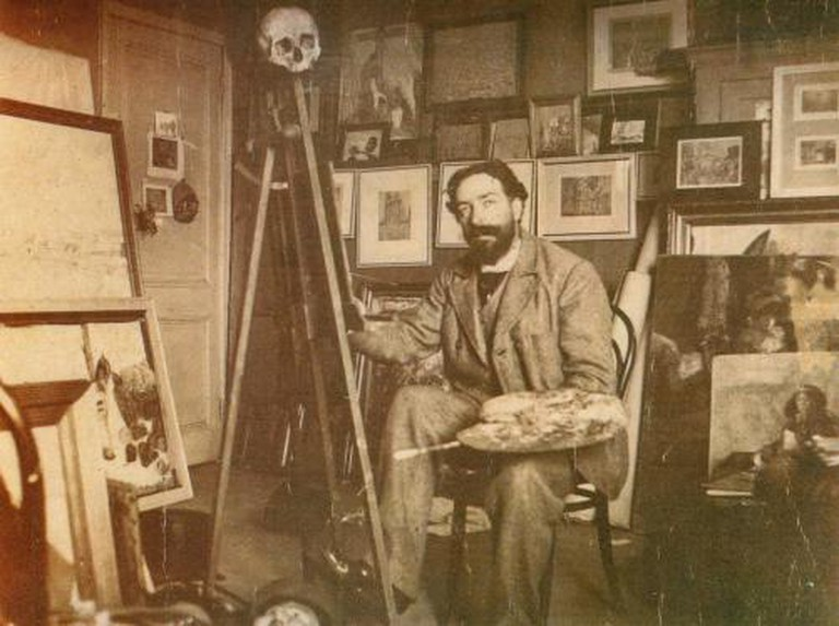 James Ensor in his Studio