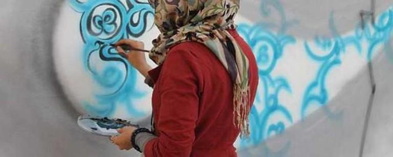 Shamsia Hassani, 'Sound Central Festival', Kabul, 2012. Image courtesy the artist.