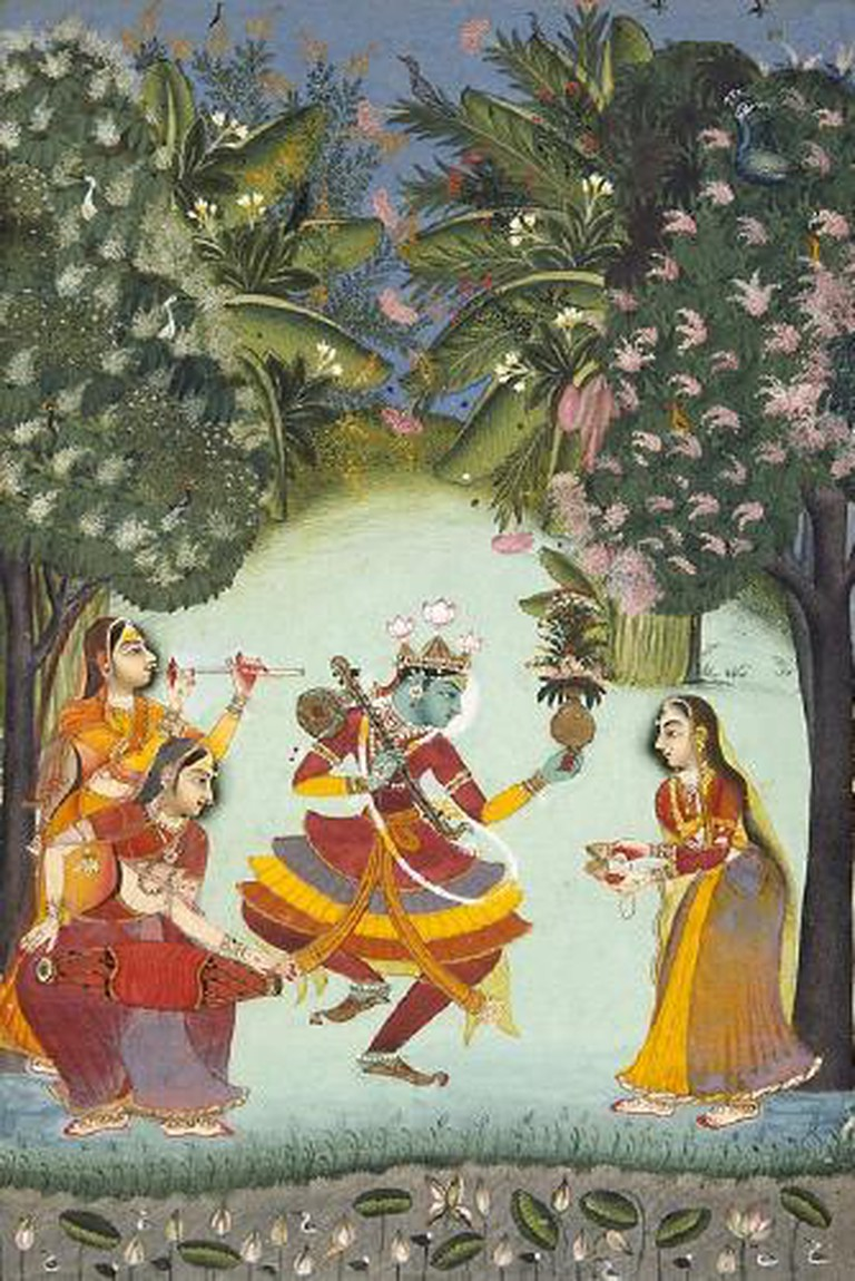 Vasant Ragini, Ragamala, Rajput, Kota, Rajasthan. 1770.