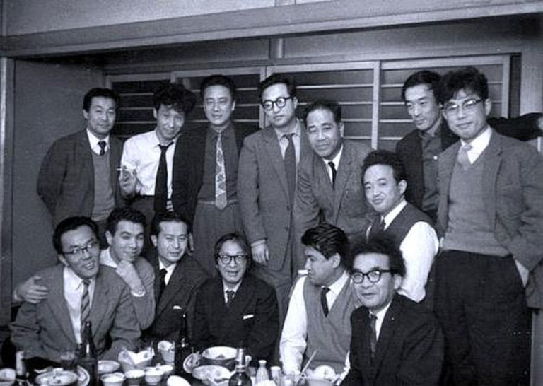 1954, Shūsaku Endō (bottom left) and his contemporaries, including Nobuo Kojima and Junzō Shōno