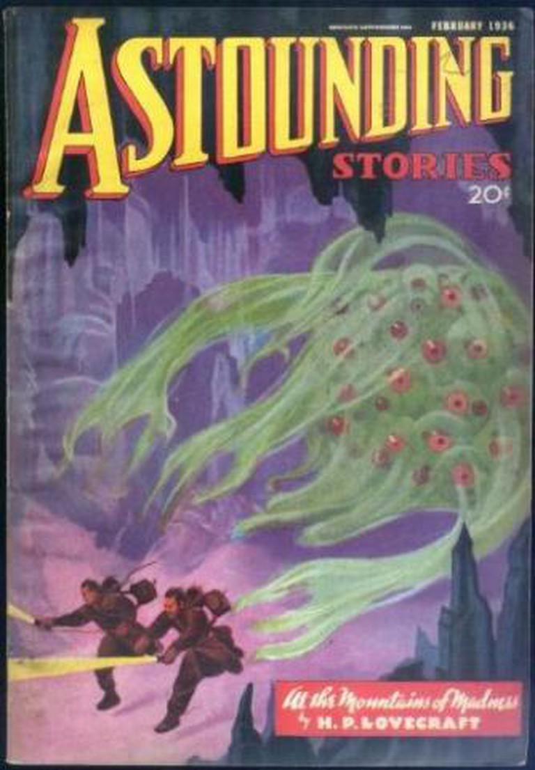 At the Mountains of Madness 1st Ed. Cover, in Astounding Stories