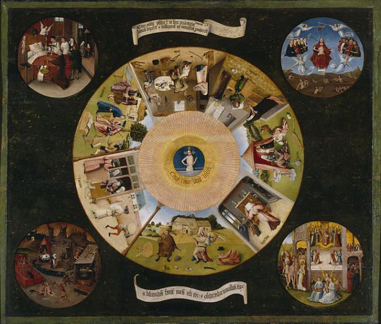 Hieronymus Bosch, The Seven Deadly Sins And The Last Four Things, between 1500 and 1525
