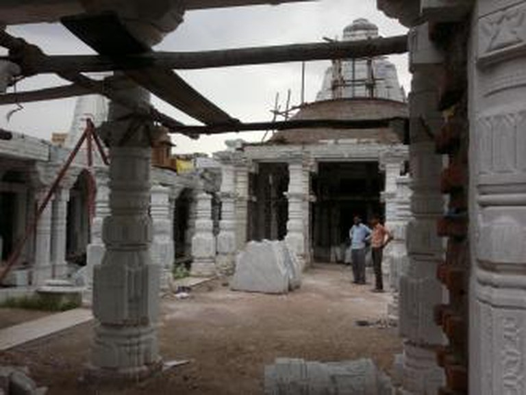 Jain Temple under construction