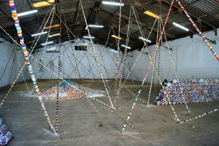 Ndary Lo, 'Windows'. 2012 Dak'Art Off exhibition at a former biscuit factory in the industrial section of Dakar