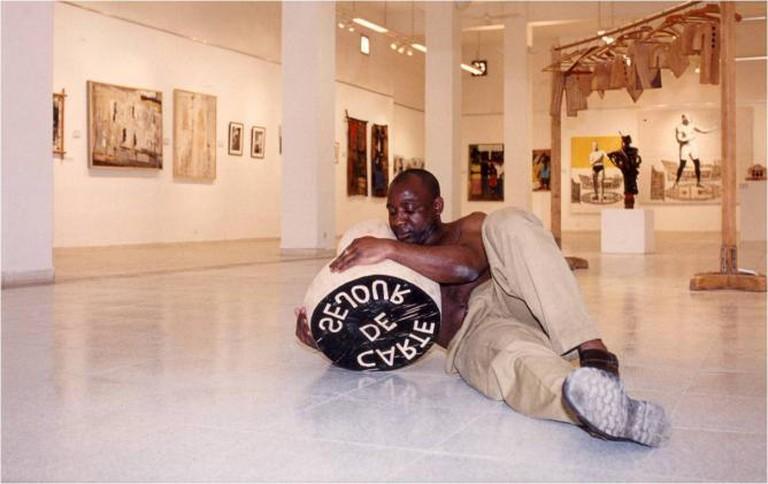 Barthélémy Togou, Carte de Séjour, Performance, Dak'Art 1998
