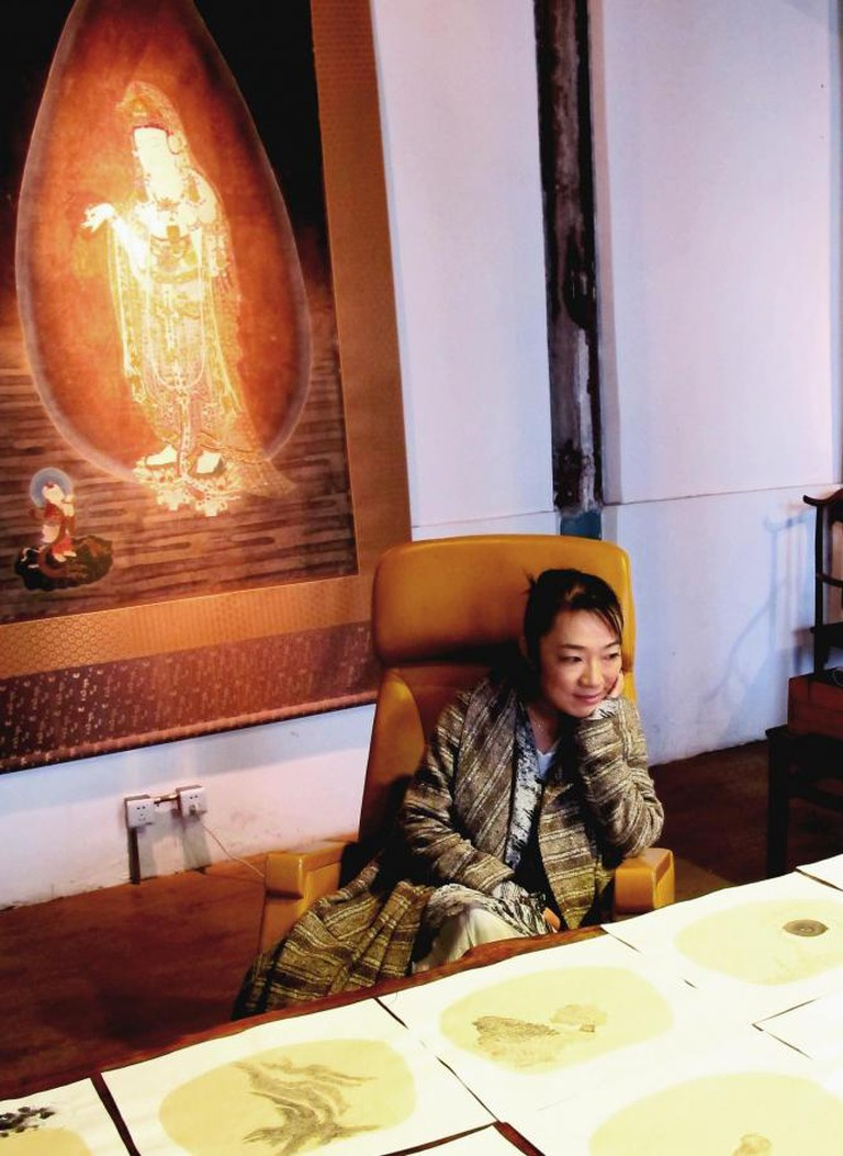 Bingyi Huang in her Beijing studio/Photo by Luise Guest; reproduced with permission of the artist