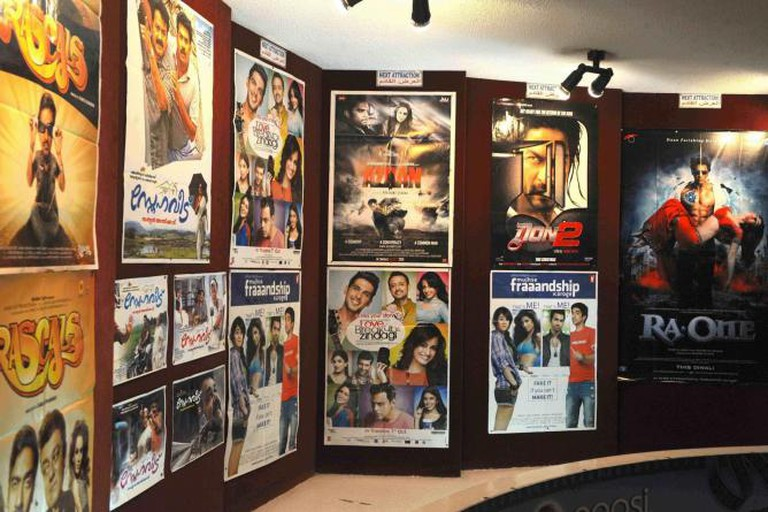 Bollywood movie posters at Bahrain's first cinema, Awal Cinema