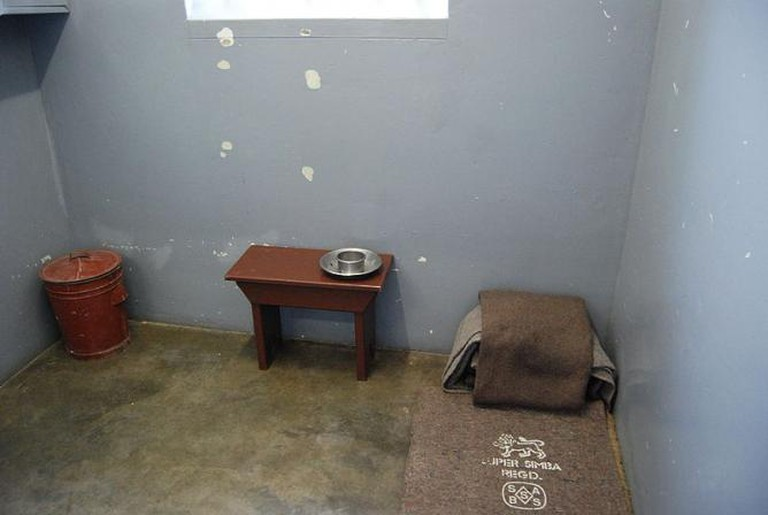 Nelson Mandela's prison cell, Robben Island, South Africa