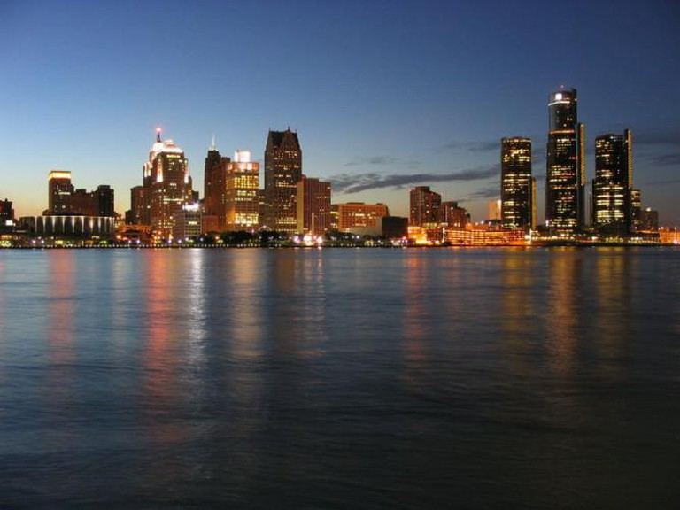 Detroit Skyline and International Riverfront