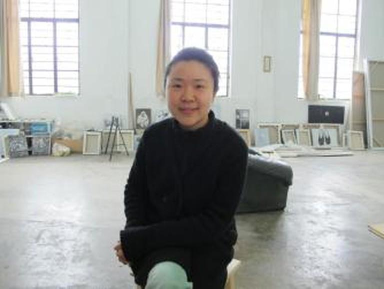 Shi Zhiying in her Shanghai Studio