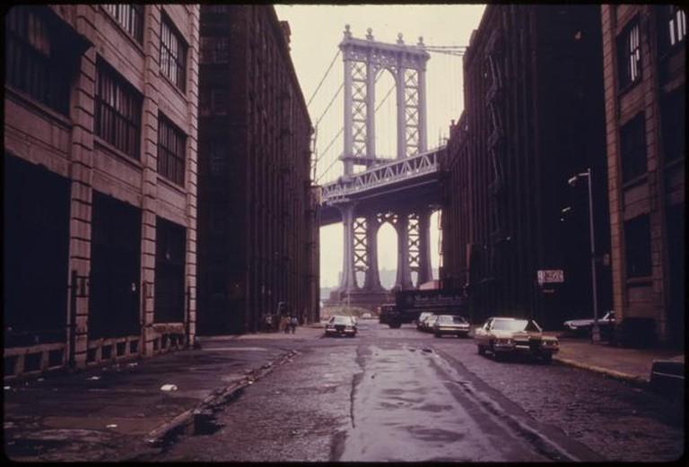 Manhattan Bridge Seen From Brooklyn ® Danny Lyon 1942