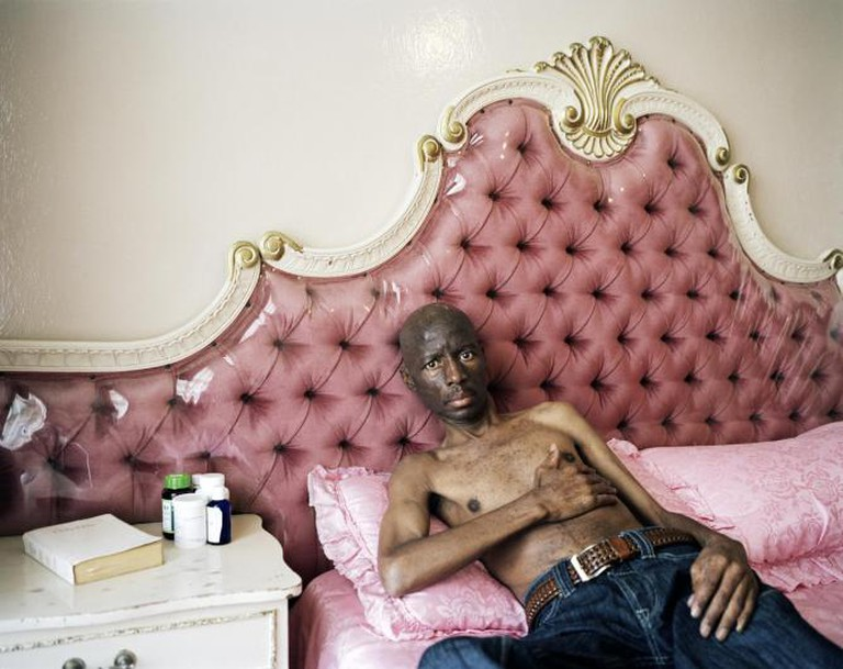Mahlomola William Melato, silicosis victim, Oppenheimer Park, Tabong, Welkom, Free State, 2012   © Ilan Godfrey