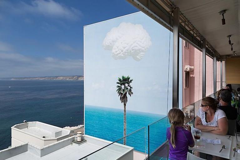 John Baldessari, Brain/Cloud (with Seascape and Palm Tree), 2011