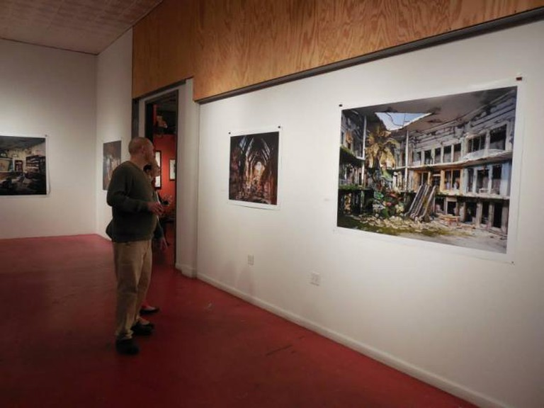 """At the """"French Masters"""" and """"Lori Nix: The City"""" reception   © Redbud Gallery"""