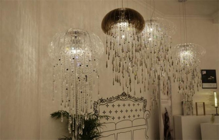 Jellyfish Crystal Chandelier by Idee