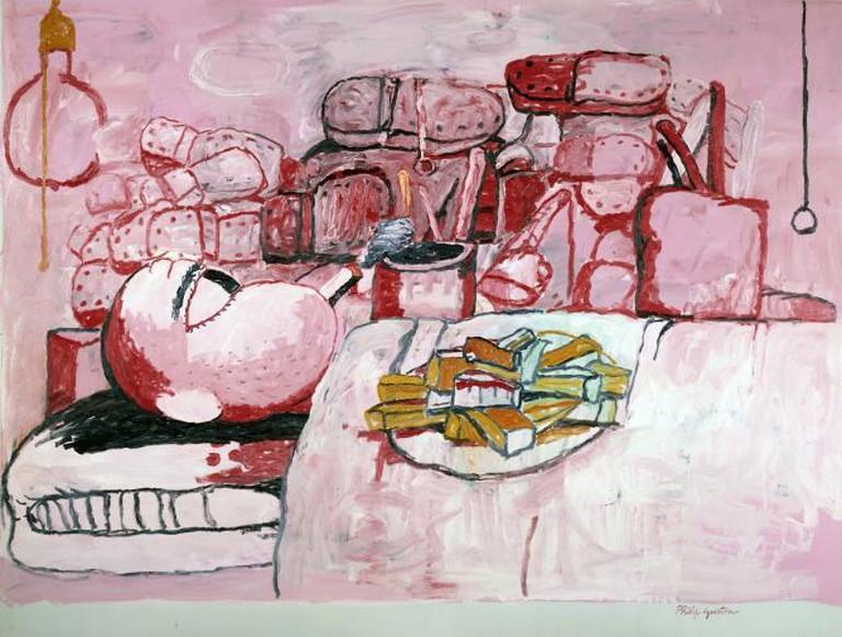 Painting, Smoking, Eating, 1975