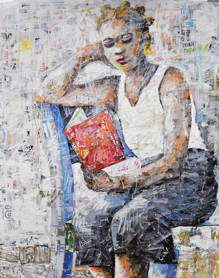 Rom Isichei, 'Beguiled by the red book, 2014 | Courtesy of Aa.bru Art