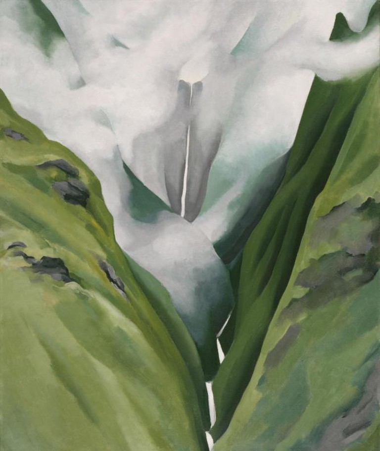 Georgia O'Keeffe, Waterfall – No. III – 'Iao Valley, 1939, Oil on canvas, 24 x 20 in., Honolulu Museum of Art, Gift of Susan Crawford Tracy, 1996 (8562.1), Image courtesy of Honolulu Museum of Art