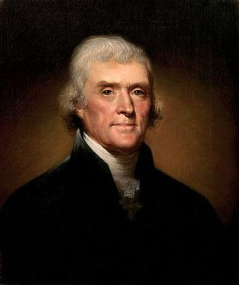 Thomas Jefferson, Rembrandt Peale, 1800