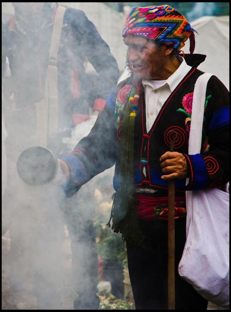 Shaman at Chichicastenango Market