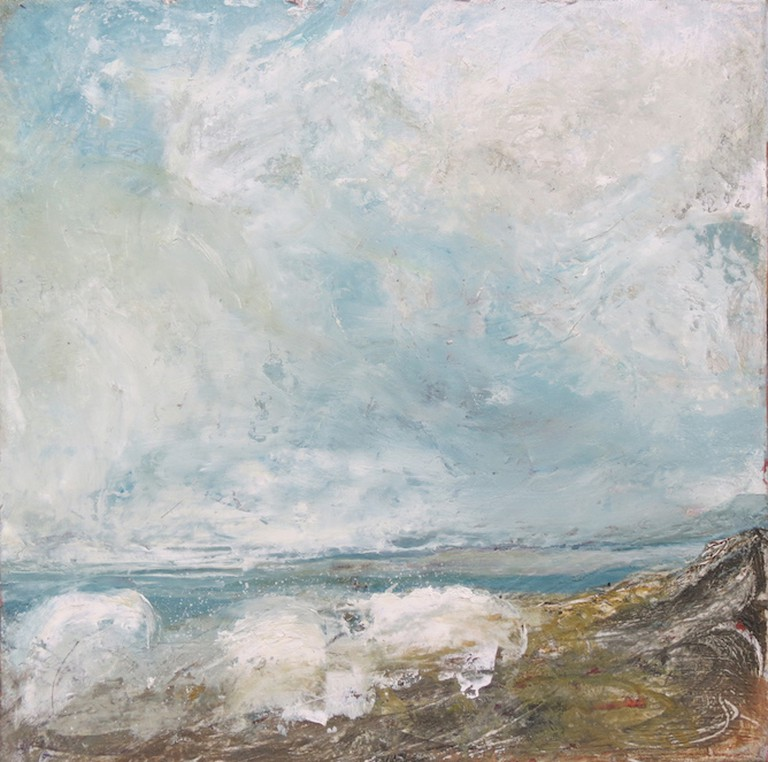 Elisabeth Piquet, Ciel et Mer, 12x12cm, Image courtesy of Savannah Gallery