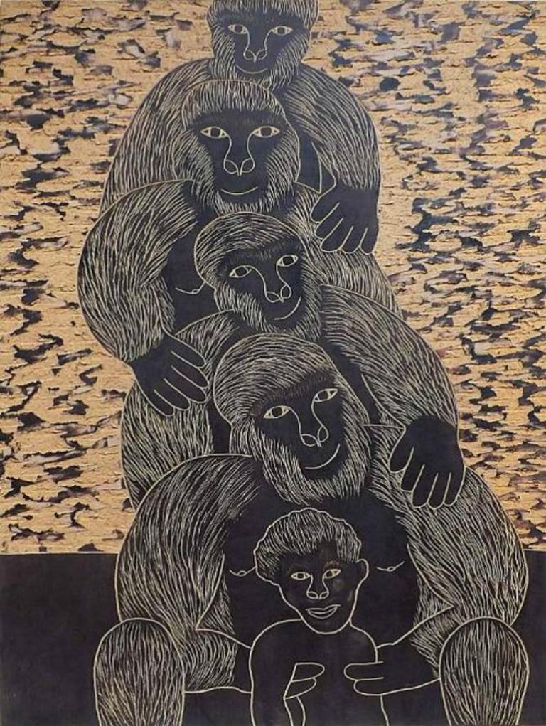 Chelenge Van Rampelberg, Evolution, Gorillas on my Mind Exhibition   Courtesy One Off Contemporary Art Gallery